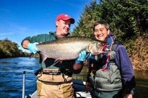 Fall fishing, Oregon Coast