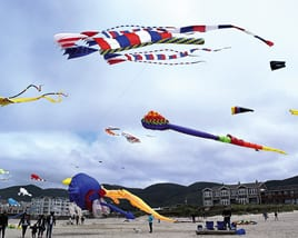 Flying Kites - Rockaway Beach Oregon