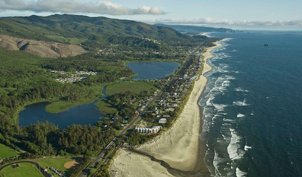 Ariel view, Rockaway Beach, Oregon