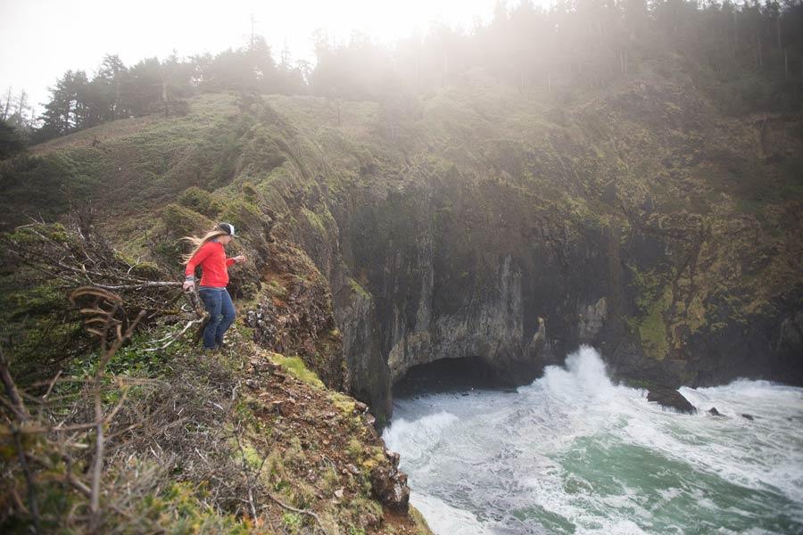 Cliff at Rockaway Beach, Oregon