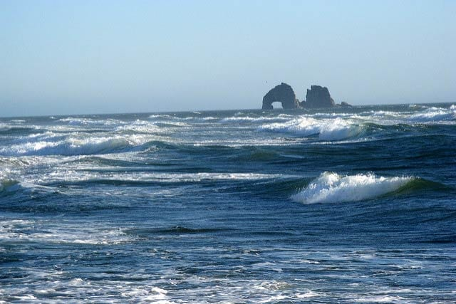 Rolling waves near Twin Rocks, Rockaway Beach, Oregon