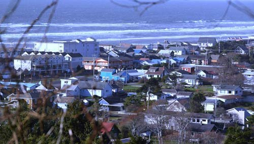 View of Rockaway Beach, Oregon