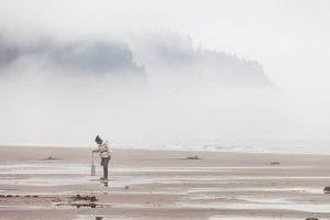 Clamming, Rockaway Beach, Oregon