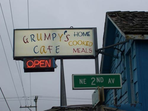 Grumpy's Cafe, Rockaway Beach, Oregon