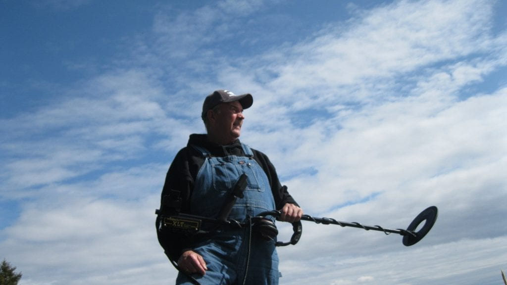 Metal detecting at Rockaway Beach, Oregon