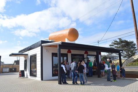 A hotdog you can eat in the rain!
