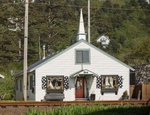 Littel White Church Antique shop at the Oregon Coast